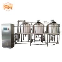 Beer mash tun, brew kettle, craft beer brewery equipment