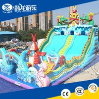 2018 commercial inflatable giant slip and slide for adults and kids