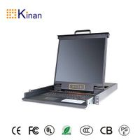 19 inch rack mount 8 port lcd kvm console