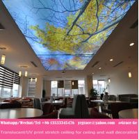 pop new ceiling decoration material pvc film for stretch ceiling