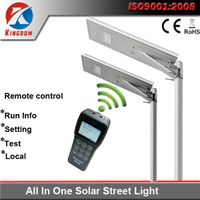 8w 10w 20w 30w 40w 50w 60w 80w All in one solar led street light with intelligentize remoter