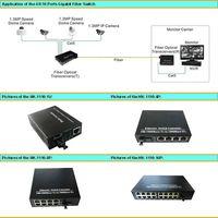 10/100/1000M 4/8/16-Port Gigabit Fiber Switch Simplex SC inteface External Power Supply
