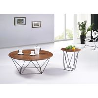 SHIMING FURNITURE MS-3372 round wooden(MDF) top classic coffee table thumbnail image
