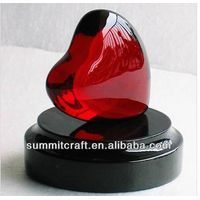 Artificial crystal Loving heart shape polyresin wedding gift