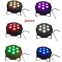7PCS 12W 4 in 1 RGBW Plastic Flat LED PAR Light/stage light/disco light thumbnail image