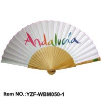 promotional Spanish wood hand fan
