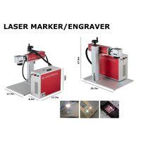 Desktop fiber laser marking engraving printing machine working for stainless steel aluminum alloy thumbnail image