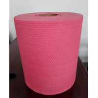 Red embossed hexagonal spunbonded wood pulp spunlace nonwoven fabric