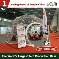 White PVC waterproof of geodesic dome marquee tent for outdoor event