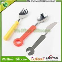 Tableware sets,tooling silicone fork spoon knife sets supplier