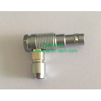 FHG 0B 1B 2B 3B Metal Circular Elbow Plug Camera Video Connector Brass Chrome Plating