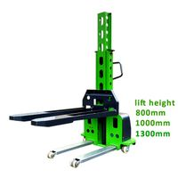 new condition 500kg self loading forklift semi electric pallet stacker with CE