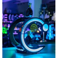C Shape Bottle Glorifier with Laser Lighting  bottle display for night club