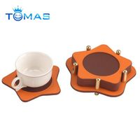 Factory Hot Sale Leather Coasters for Wedding Souvenirs