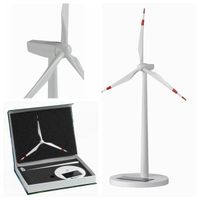 White painting Plastic Injection Solar Wind Turbine Model thumbnail image