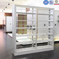 Double Side Steel Bookshelf for Library Book Display