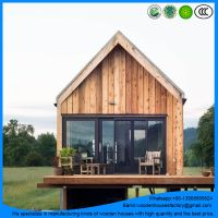 Professional manufacturer of prefab wooden beach house/log cabin/hotel house
