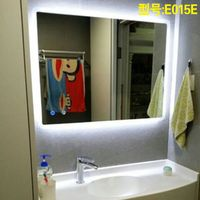 Mgonz LEDAnti-fog bathroom mirror hanging bluetooth music frameless temperature time function