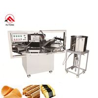 Commercial Ice Cream Sugar Cone Making Machine Crispy Egg Roll Maker Italy Pizzelle Cookie Machine thumbnail image