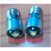 E10 screw base E10 3W LED flashlight bulb 3V 4.5V 6v 18V 24V 3W