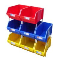 Stackable plastic storage box used for spare parts thumbnail image
