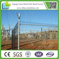 made in china galvanized chain link fence(factory)