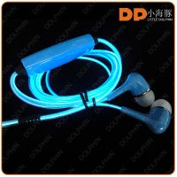Factory stock stereo quality EL glowing earphone led light headphones