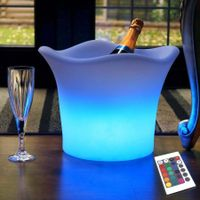 Rechargeable 16 colors changing waterproof led ice bucket