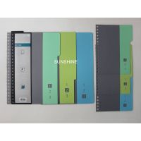 plastic pp notebook cover/divider