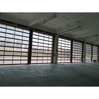 Low Price Residential Automatic Black Aluminum Benefit Glass Sectional Garage Door thumbnail image