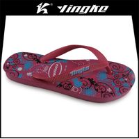 China cheap promotional customize rubber plastic slipper flip flops women thumbnail image