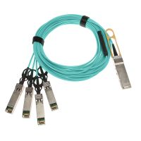 Compatible 40G QSFP+ to 4x10G SFP+ Breakout Active Optical Cable