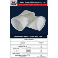 polyester needle felt filter bag for cement