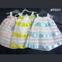 Latest formal dress patterns for kids wear little girl clothing striped dress thumbnail image