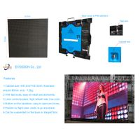 LED Display Screen Die-Cast Aluminum Cabinet P4 Rental Use