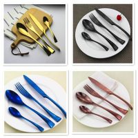 Classic style 20pcs royal rose gold cutlery set stainless steel, pvd coating flatware, titanium plat thumbnail image