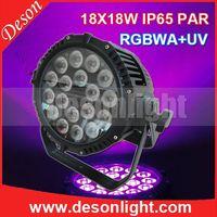 18pcs RGBWA + UA (RGBWAP) 6in1 waterproof ip65 par can LP-1818 thumbnail image