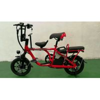 parent-child limthium Electric bike red portable2seats