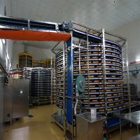 Food Factory Customized IQF Bakery Pizza Spiral Cooling Conveyor Belt Machine thumbnail image