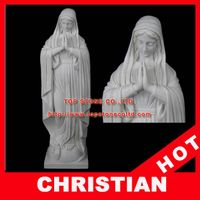 Praying Mary Marble Statue