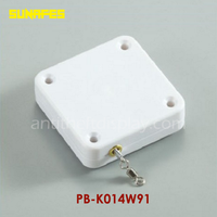 Heavy Duty Security Pull Box Steel Cabled Reel Retractor With Swivel Hook