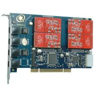 TDM410P 4 port asterisk card with 4FXO  for VOIP PBX elastix trixbox call center