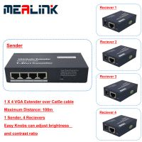 1 to 4 VGA Extender Over Cat5e Cable (YL3504-100m) thumbnail image