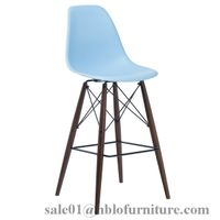 colorful eames bar chair with high legs