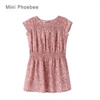100% Cotton Purple Petit Flower Girls' Dress thumbnail image