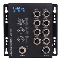 8 Port M12 Railway Gigabit Industrial Ethernet Switch