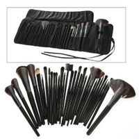 32pcs Makeup Brush Set with Black Pouch Bag packing