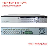 H.265 5MP DVR Video Recorder 16CH Support AHD CVI TVI Analog IP Hybrid DVR