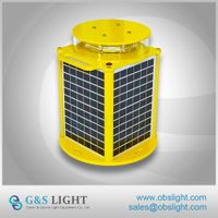 Medium intensity Type A solar Aviation Obstruction Light / Portable Solar aviation light