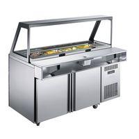 commercial salad prep refrigerator